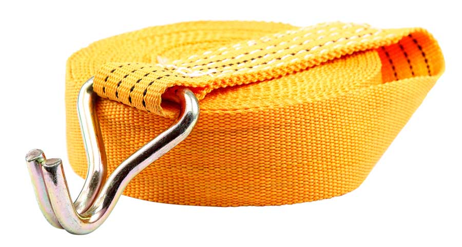 Orange tie strap