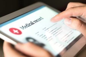 Medical information on file and easily accessible on tablet and phone devices.